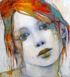 RAIN COLOR - Joan Dumouchel - 40'' x 36'' - technique mixte sur toile