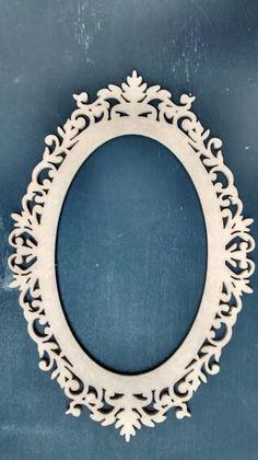 mini moldura para espelho provençal 45x30 mdf 9mm