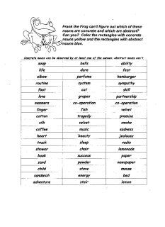 Concrete and Abstract Nouns - print out a concrete and abstract nouns worksheet Concrete And Abstract Nouns, Nouns Worksheet, Teacher Worksheets, Opinion Writing, English Lessons, Grammar, Teaching, Education, School