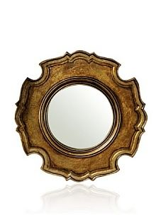 Venezia Ornate Carved Wooden Mirror (Bronze) - $94