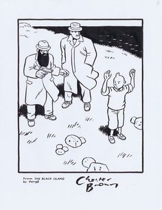Tintin tribute by Chester Brown.