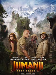 Poster for Jumanji: The Next Level Starring: Karen Gillan, Dwayne Johnson, Kevin Hart, Jack Black, Nick Jonas Release Date: December 2019 Directed By: Jake Kasdan Gillan Dwayne Johnson, Rock Johnson, Kevin Hart, Jumanji 2, Thriller, Danny Glover, Donald Glover, Watch Free Movies Online, Watch Movies