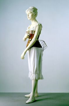 Woman's underwear in the 1800s. V collections.  Woman's underwear.  English  1800s