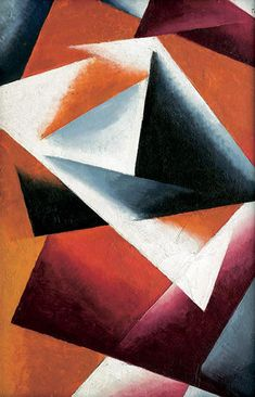 With full force by Lyubov Popova, oil on canvas, 1920s
