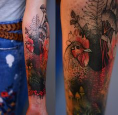 Joanna Swirska Dzo Lama chicken tattoo