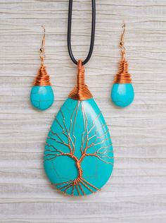 Wife & Husband Turn Wire Found In Discarded TVs Into Tree Of Life Pendants