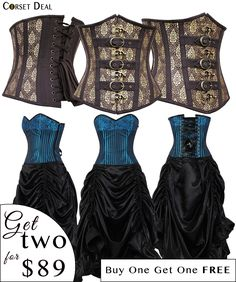 2 FOR 1: Hurry Limited Time Offer Corset: www.corsetdeal.com/products/willie-steampunk-corset Corset Dress: www.corsetdeal.com/products/lucrece-brocade-corset-dress