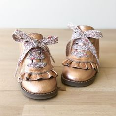 Rose Gold Boot | Girls Boots | Sadie Baby Rose Gold Boots, Designer Boots, Kids Boots, Wide Feet, Gold Leather, Baby Accessories, Sadie, Baby Shoes, Girls