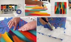How to Make Chevron Pattern Taped Canvas - DIY & Crafts -