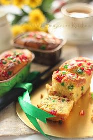 My Singapore Kitchen........: Eggless Tutti-Fruity Cake