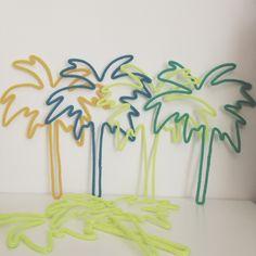 Jolis palmiers en tricotin