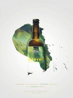 """Indianapolis-based agency Young & Laramore created this vibrant advertising campaign and packaging design for Upland Sour Ales. """"Sour ales — beers that are made with… Food Poster Design, Graphic Design Posters, Modern Graphic Design, Graphic Design Inspiration, Ads Creative, Creative Posters, Creative Advertising, Creative Design, Wine Advertising"""