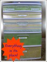 Storage Bins for Non-Paper Supplies
