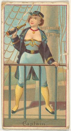"""Captain """"Occupations for Woman"""" series ~ 1887 Goodwin & Company"""