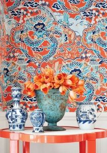 Thibaut wallpaper Imperial Garden wallpaper various colors chinoiserie – JLL HOME Garden Wallpaper, Fabric Wallpaper, Of Wallpaper, Oriental Wallpaper, Asian Wallpaper, Wallpaper Canada, De Gournay Wallpaper, Special Wallpaper, Designer Wallpaper