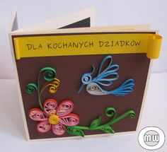 quilling card for grandparents