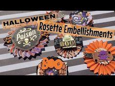 Halloween Rosette Embellishments | I'm A Cool Mom - YouTube
