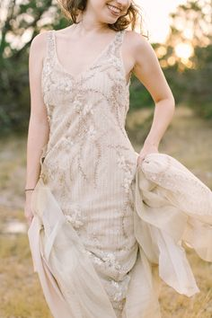 Lazaro wedding dress | Mint Photography | see more on: http://burnettsboards.com/2014/11/chic-austin-ranch-styled-shoot/