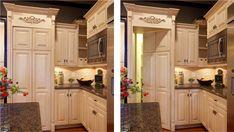 Hidden walk-in pantry. Awesome idea!