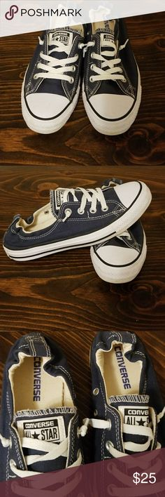Converse Navy converse all star slip on shoes worn twice Converse Shoes Sneakers
