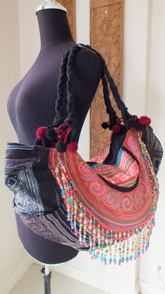 Hmong Ethnic handmade bag vintage style work by shopthailand 4b7f366947f84
