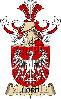 Hord Family Crest apparel, Hord Coat of Arms gifts