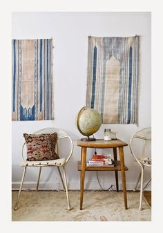 Woven walls are set to be a huge trend for Hang rugs, macrame, wall hangings. handmade home decor inspiration. Home Design, Hippie Stil, Sweet Home, Living Spaces, Living Room, Interior Decorating, Interior Design, Decorating Ideas, Interior Exterior