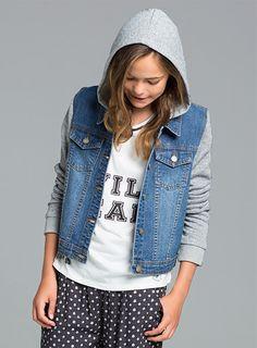 Pumpkin Patch -  - river rose denim jacket - W5UA40001 - denim - 3xs-8yr to m-16yr