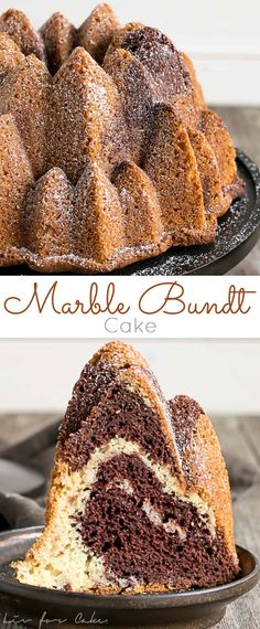 This classic Marble Bundt Cake is one of the easiest cakes you'll ever make! It is the perfect addition to any party or afternoon tea. Easy No Bake Desserts, Best Dessert Recipes, Easy Desserts, Sweet Recipes, Delicious Desserts, Cake Recipes, Yummy Recipes, Keto Recipes, Cupcakes