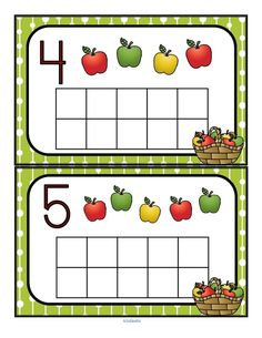Fill the apples themed with manipulatives such as pom poms, counters or playdough. Recognize numbers and count sets Preschool Apple Theme, Apple Activities, Preschool Themes, Autumn Activities, Preschool Activities, Educational Activities, Letter B Worksheets, Farm Fun, Homeschool Kindergarten