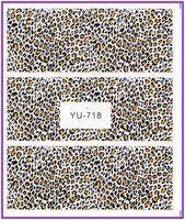 1X  Nail Sticker Full Cover Leopard Zebra Spot Water Transfers Stickers Nail Decals Stickers YU718B-723B***BUY 3 GET 1 FREE***