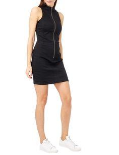G-Star Raw Kleid mit Reißverschluss und Stehkragen in Grau / Schwarz - 1
