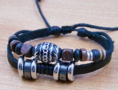 Mens Leather bracelet s personalized wristbands by edwinating, $6.99