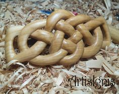 Celtic Knot Hair Barrette in Linden Wood, Handcarved French Barrette, Handmade Wood Barrette, Hand carved - MADE TO ORDER