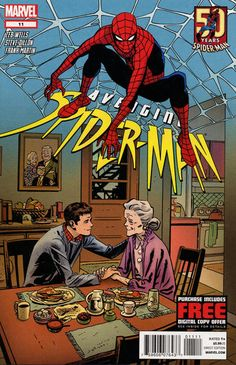 """Marvel celebrates 50 years of Spider-Man coming between Peter Parker and his personal life! You know Marc Webb's Aunt May; Raimi's is Rosemary Harris, a stage actress prior to working on films. Her big Ben is Ellis Rabb, stage actor and director. Her filmography (besides the """"Spider-Man"""" franchise): """"Holocaust,"""" """"The Boys from Brazil,"""" """"Hamlet"""" (1996), """"The Gift"""" (also directed by Raimi), """"This Means War."""""""
