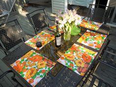 DIY oilcloth placemats