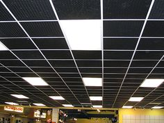 Find This Pin And More On Favorite Places Es Exposed Ceilings With Grid
