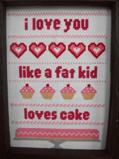 Like a Fat Kid Loves Cake  PATTERN by Stitchisms on Etsy, $3.00