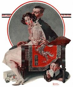 """""""Sneezing Spy 10/1/1921 aka. """"God Bless You"""" or """"Sneezing Boy"""" by Norman Rockwell for The Saturday Evening Post, cover (info verified)"""