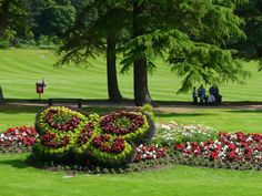 Grant Park, Forres. The floral display is beautiful every year and has won prizes in Britain in Bloom
