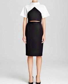 Black Halo Chic 2 Piece Dress - black   white colorblock Color Blocking  Outfits e8075188e