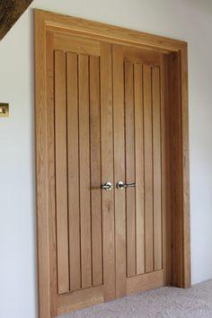 Mexicano Oak Door, Double Doors Mexicana, Solid Oak Mexicano Door. http://www.ukoakdoors.co.uk/mexicano-contemporary-solid-oak-door_p23637772.htm