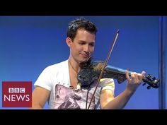 Amazing Russian Street Performer plays beautiful violin music - YouTube