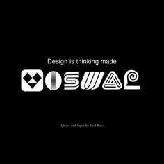 """""""Design is thinking made visual."""" ~Saul Bass #qotw #quote #SaulBass #design #graphicdesign #inspiration #visual #tdc"""