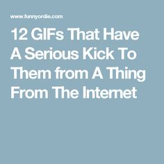 12 GIFs That Have A Serious Kick To Them from A Thing From The Internet