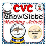 CVC Snowglobe Matching Activity - Practice 100 Different CVC Words! This set features cool snowglobes where the tops and bottoms are used to match CVC words. It's great practice and more fun than worksheets! It's also only $1 until 2017 begins! (aff link)