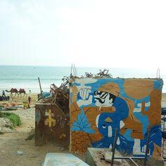 For the fisherman. Taghazout, Morocco #fernandoleon #mural #streetart #taghazout #barcelona #arnhem  #graffiti #illustration #graphic #muralsdaily #surfmaroc #tajinelife
