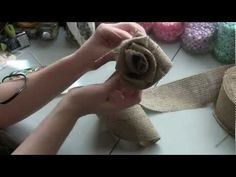 Burlap Rose Tutorial - BurlapFabric.com - YouTube