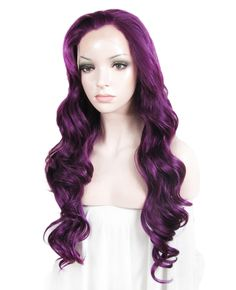 Synthetic Wigs Sylvia Middle Part Light Purple Color Hair Synthetic Lace Front Wigs Body Wave Hair Drag Queen Wig For Cosplay/party/holiday 100% Guarantee