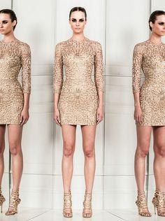 Stunning nude textured little dress- Zuhair Murad